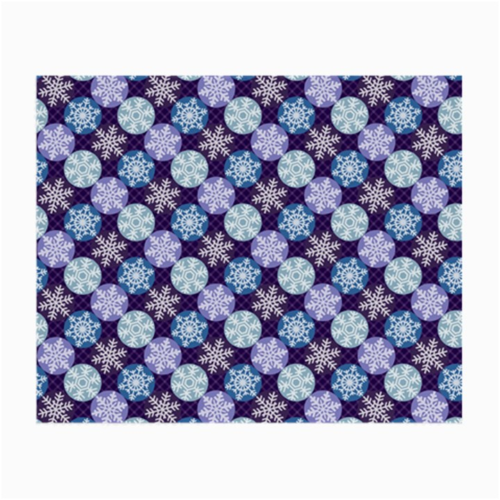 Snowflakes Pattern Small Glasses Cloth (2-Side)