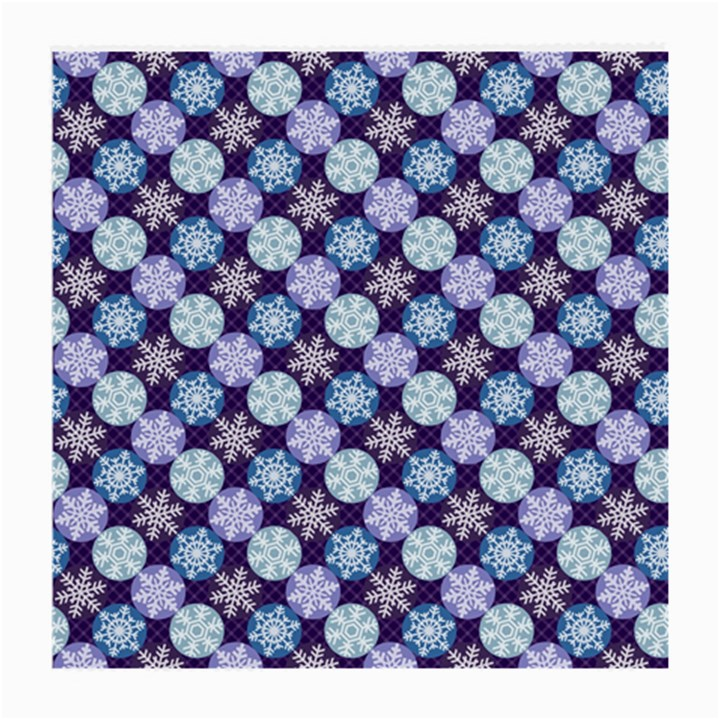 Snowflakes Pattern Medium Glasses Cloth (2-Side)