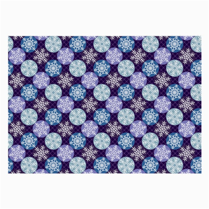 Snowflakes Pattern Large Glasses Cloth