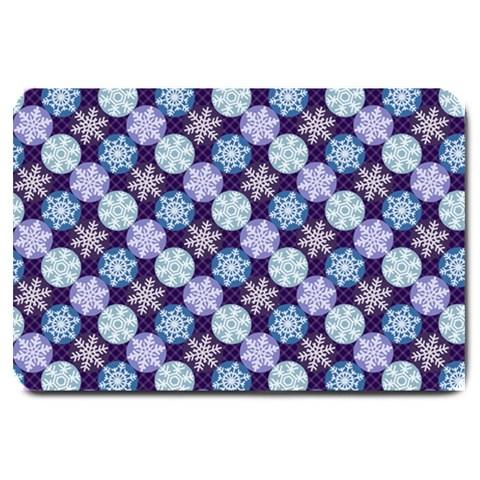 Snowflakes Pattern Large Doormat