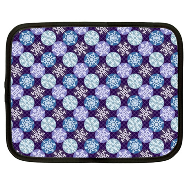 Snowflakes Pattern Netbook Case (Large)