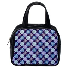 Snowflakes Pattern Classic Handbags (one Side)
