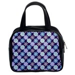 Snowflakes Pattern Classic Handbags (2 Sides) Front