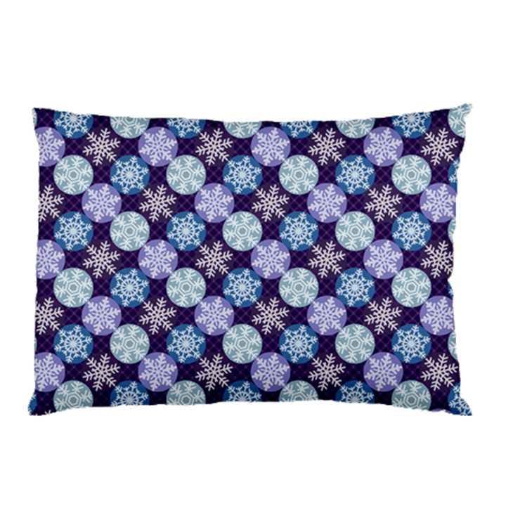 Snowflakes Pattern Pillow Case