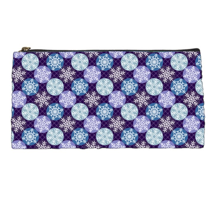 Snowflakes Pattern Pencil Cases