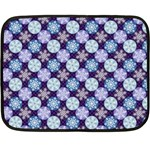 Snowflakes Pattern Double Sided Fleece Blanket (Mini)  35 x27 Blanket Back