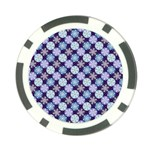 Snowflakes Pattern Poker Chip Card Guards (10 pack)  Front