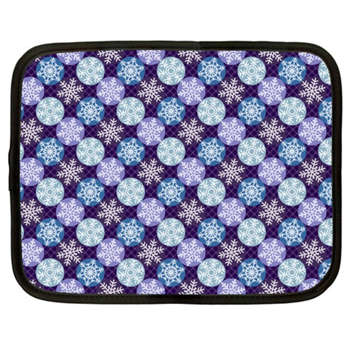 Snowflakes Pattern Netbook Case (XL)