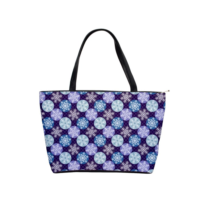 Snowflakes Pattern Shoulder Handbags