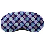 Snowflakes Pattern Sleeping Masks Front