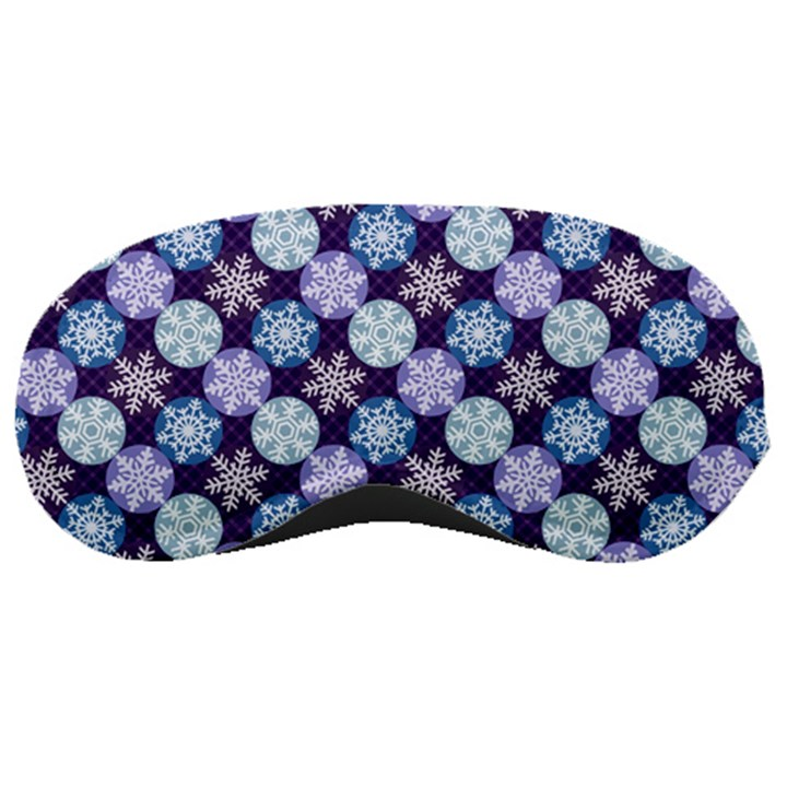 Snowflakes Pattern Sleeping Masks