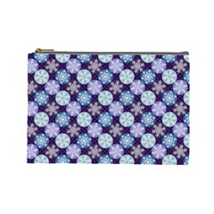 Snowflakes Pattern Cosmetic Bag (large)