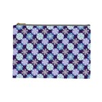 Snowflakes Pattern Cosmetic Bag (Large)  Front