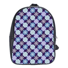 Snowflakes Pattern School Bags(Large)