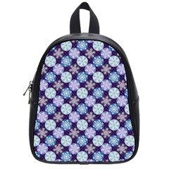 Snowflakes Pattern School Bags (Small)