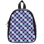 Snowflakes Pattern School Bags (Small)  Front