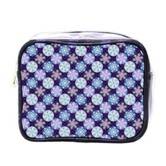 Snowflakes Pattern Mini Toiletries Bags