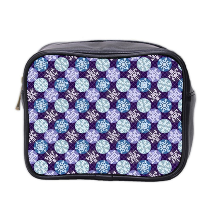 Snowflakes Pattern Mini Toiletries Bag 2-Side