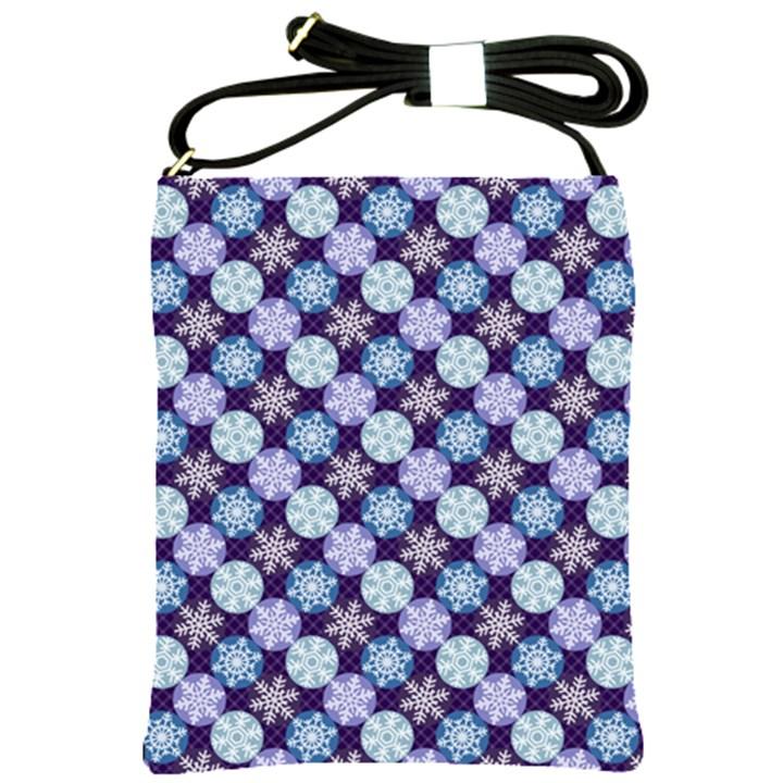 Snowflakes Pattern Shoulder Sling Bags