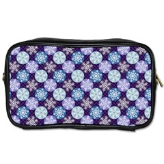 Snowflakes Pattern Toiletries Bags 2 Side