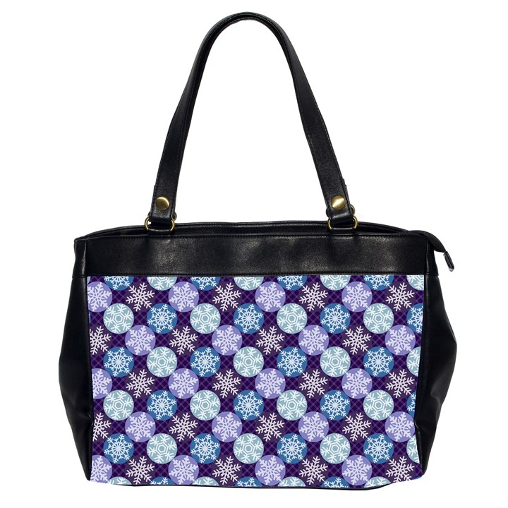 Snowflakes Pattern Office Handbags (2 Sides)