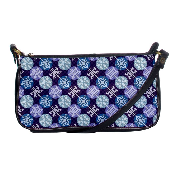 Snowflakes Pattern Shoulder Clutch Bags