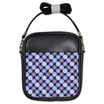 Snowflakes Pattern Girls Sling Bags Front
