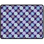 Snowflakes Pattern Fleece Blanket (Medium)  60 x50 Blanket Front