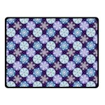 Snowflakes Pattern Fleece Blanket (Small) 50 x40 Blanket Front