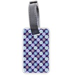 Snowflakes Pattern Luggage Tags (One Side)  Front