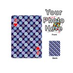 Snowflakes Pattern Playing Cards 54 (Mini)  Front - Heart2