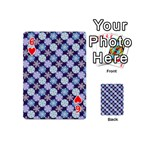 Snowflakes Pattern Playing Cards 54 (Mini)  Front - Heart6