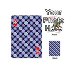 Snowflakes Pattern Playing Cards 54 (Mini)  Front - HeartA