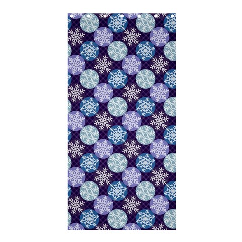 Snowflakes Pattern Shower Curtain 36  x 72  (Stall)