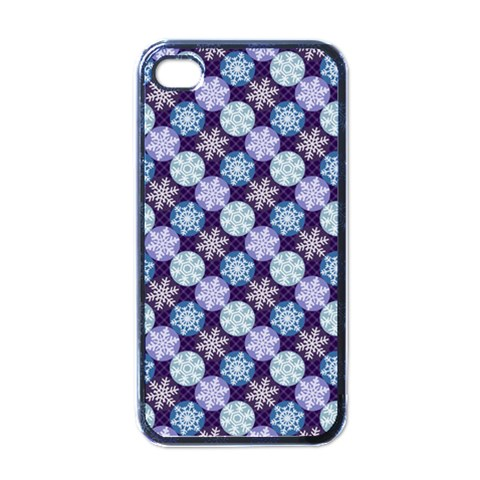 Snowflakes Pattern Apple iPhone 4 Case (Black)