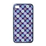 Snowflakes Pattern Apple iPhone 4 Case (Black) Front