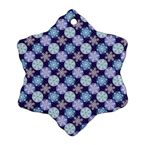 Snowflakes Pattern Snowflake Ornament (2-Side)