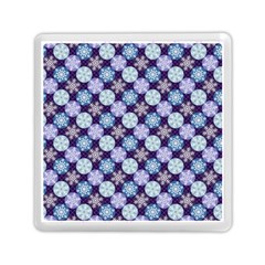 Snowflakes Pattern Memory Card Reader (square)