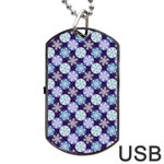 Snowflakes Pattern Dog Tag USB Flash (Two Sides)  Front