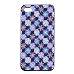Snowflakes Pattern Apple iPhone 4/4s Seamless Case (Black) Front