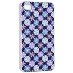 Snowflakes Pattern Apple iPhone 4/4s Seamless Case (White) Front
