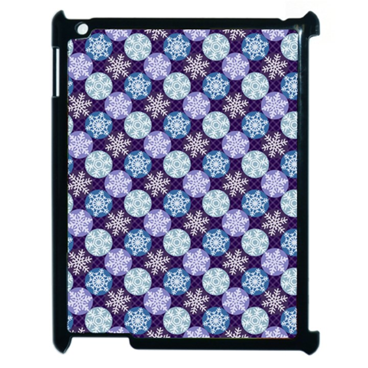 Snowflakes Pattern Apple iPad 2 Case (Black)