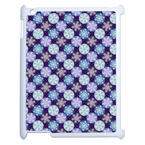 Snowflakes Pattern Apple iPad 2 Case (White)