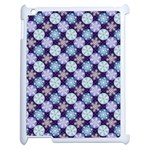 Snowflakes Pattern Apple iPad 2 Case (White) Front
