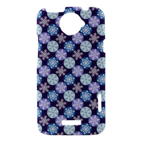 Snowflakes Pattern HTC One X Hardshell Case