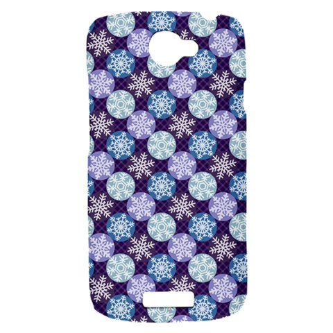 Snowflakes Pattern HTC One S Hardshell Case