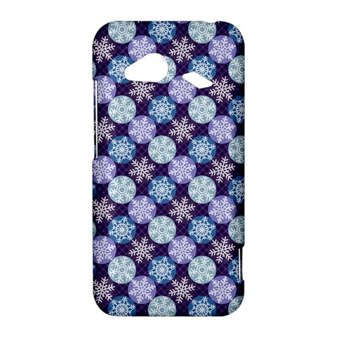 Snowflakes Pattern HTC Droid Incredible 4G LTE Hardshell Case