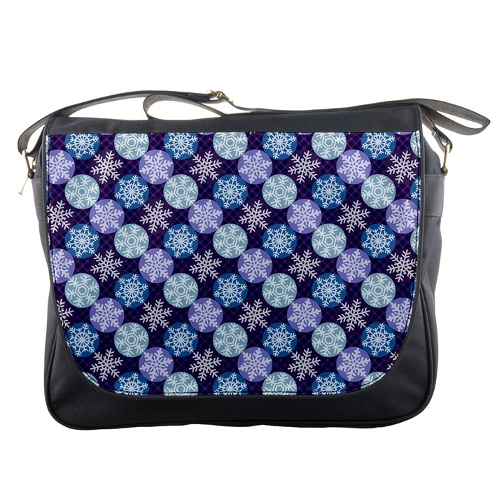 Snowflakes Pattern Messenger Bags