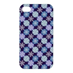 Snowflakes Pattern Apple iPhone 4/4S Premium Hardshell Case
