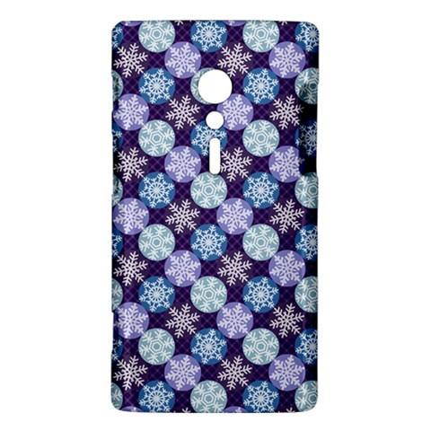 Snowflakes Pattern Sony Xperia ion